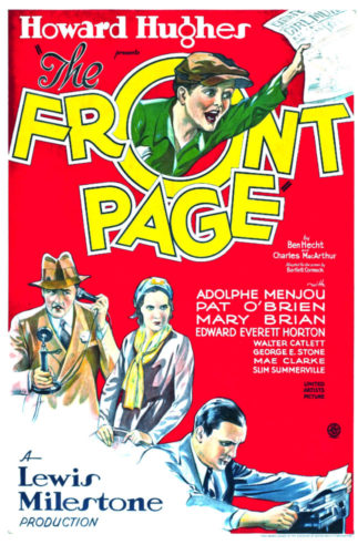 The Front Page (1931 film) poster